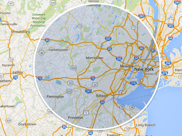 Contact 1-855-Joe-Junk - Junk Removal Union NJ - Appliance Removal, Couch Removal, Dishwasher Removal - map